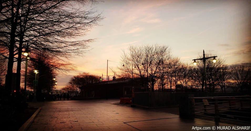 Beautiful sunset in NYC
